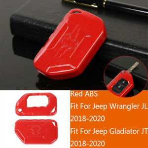 Silver ABS Key Fob Cover Case Protector Shell For Jeep Wrangler JL//JT 2018-2020