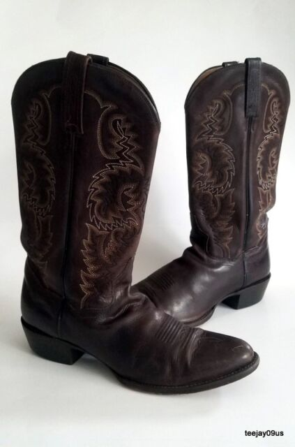 12d6a48709e Dan Post Mens Roper Dark Brown Cowboy Western BOOTS Size 9.5