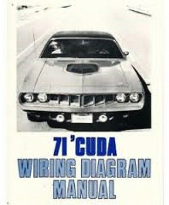 1971 Plymouth Barracuda Cuda Cuda Wiring Diagrams Schematics Manual Nice New Ebay