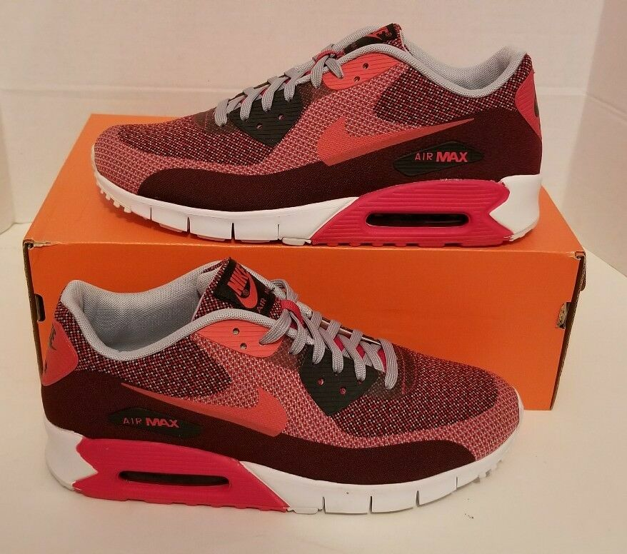 Nike Men's Air Max 90 JCRD Men's Nike Sz 9 NEW 631750 601 Red/Wolf Grey Prm Qs 08cc4f