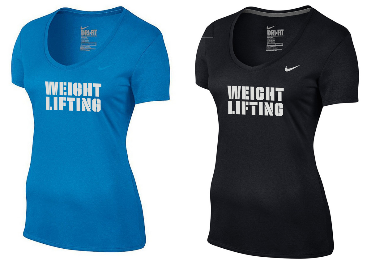 b3f3aedbf645 Details about Women s Weightlifting Nike Dri-Fit Short Sleeve Cotton  Training T-shirt