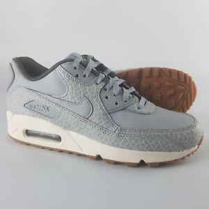 Nike Air Max 90 Premium Womens Running Tennis Shoes Wolf Grey Size 10 443817 011