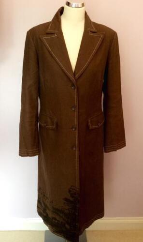 Coat Brown Black Uk Trim cotone Trim Wish 10 in Cotton Simple Taglia 38 EfqO5Ynwx
