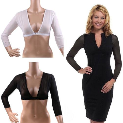 Women/'s Arm Slimming Shaper Push up Shapewear Long Sleeve Crop Top Body Shapers