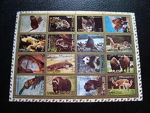 2019 Neuestes Design Ajman State tiere 16 Briefmarken Nicht Gestempelt z0 Briefmarke Durch Wissenschaftlichen Prozess