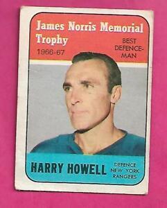 1967-68-TOPPS-119-RANGERS-HARRY-HOWELL-TROPHY-GOOD-CARD-INV-C3119