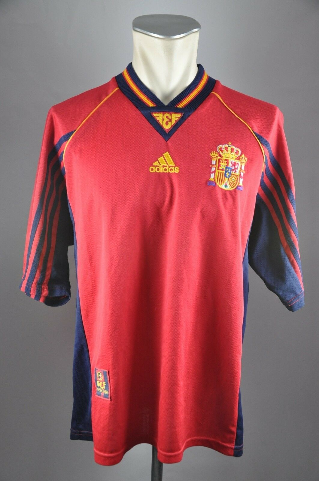 Spanien Trikot 1998-2000 Gr. XL Adidas Jersey Home WM EM Spain Shirt 90er