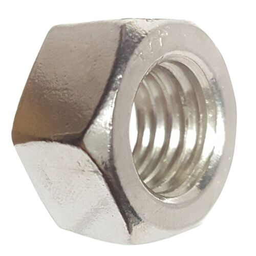 1//4-28 Hex Nut Stainless Steel Grade 18-8 Full Finished Qty 100