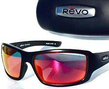 NEW! REVO BEARING Matte Black w POLARIZED Solar Orange FIRE Sunglass 4057-01