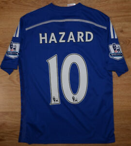 CHELSEA-LONDON-2014-2015-HOME-FOOTBALL-SHIRT-ADIDAS-HAZARD-10-SIZE-YL-BOYS