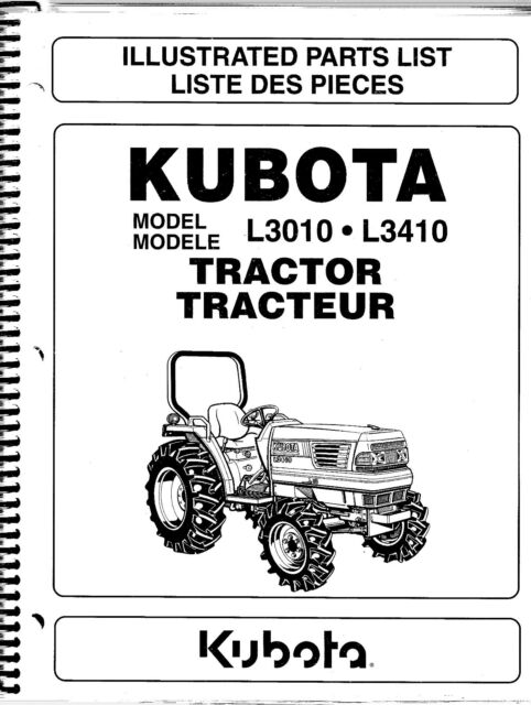 kubota l3010 l3410 tractor illustrated parts manual ebay rh ebay com kubota l3010 owners manual download kubota l3010 parts manual