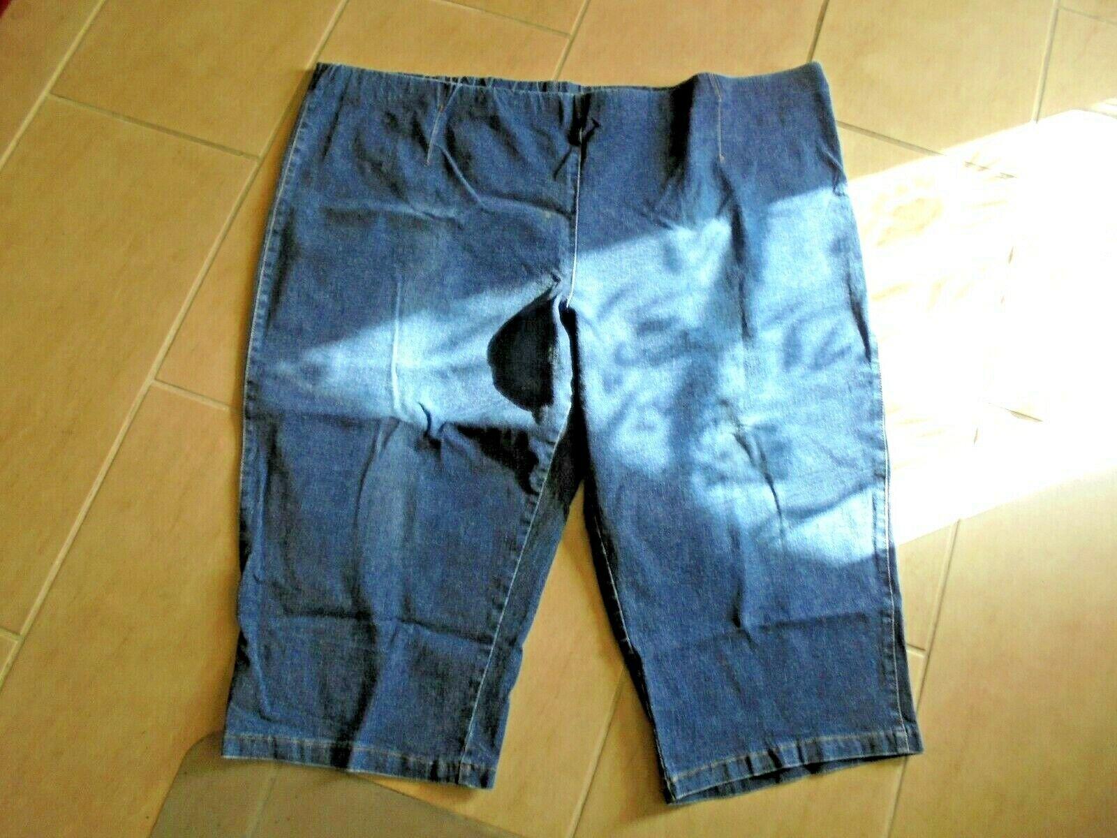 damen bermuda _ kurze hose _ jeans _ gummibund _ blau _ stretch _ gr. 60 (5)