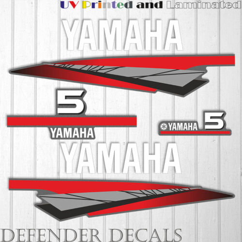 Yamaha 5 HP Two 2 Stroke outboard engine decal sticker kit ...