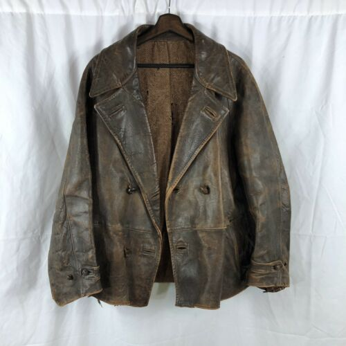 Vintage 1930s French Leather Riding Jacket