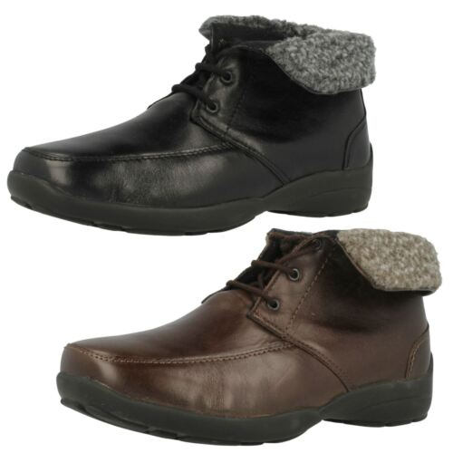 Ladies BELL Leather Lace Up Ankle Boots By Easy B EE Fit £35.00