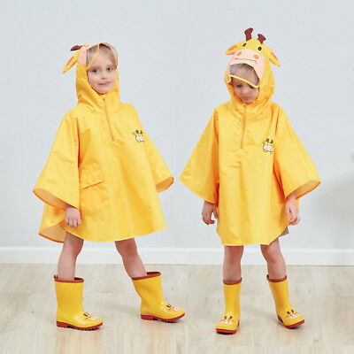 Kids Raincoat Children Cartoon Rain Coat Rainwear Rain Slicker Waterproof KI