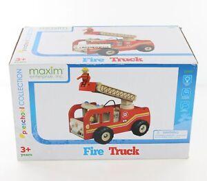 Holzfeuerwehr-Feuerwehr-Auto-Holzspielzeug-Rollenspiel-Spielzeug