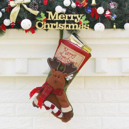 Christmas Xmas Tree Santa Snowman Ornaments Candy Bag Hanging Party Home Decor