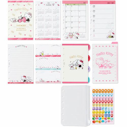 Sanrio Hello Kitty 2021 6 holes agenda planner calendar schedule refills index