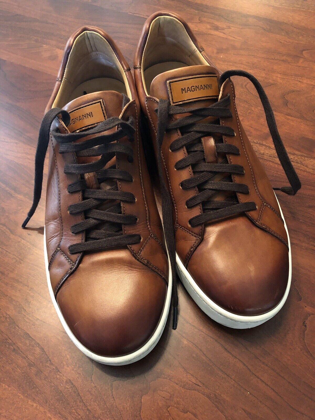 Magnannl Caballero Cognac Lace Up scarpe da ginnastica scarpe Dimensione 11 US (Model 19613)