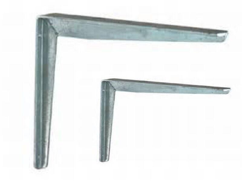 2 x Regalträger, Winkel, Träger,Winkelkonsole, feuerverzinkt, 200 x 250 mm