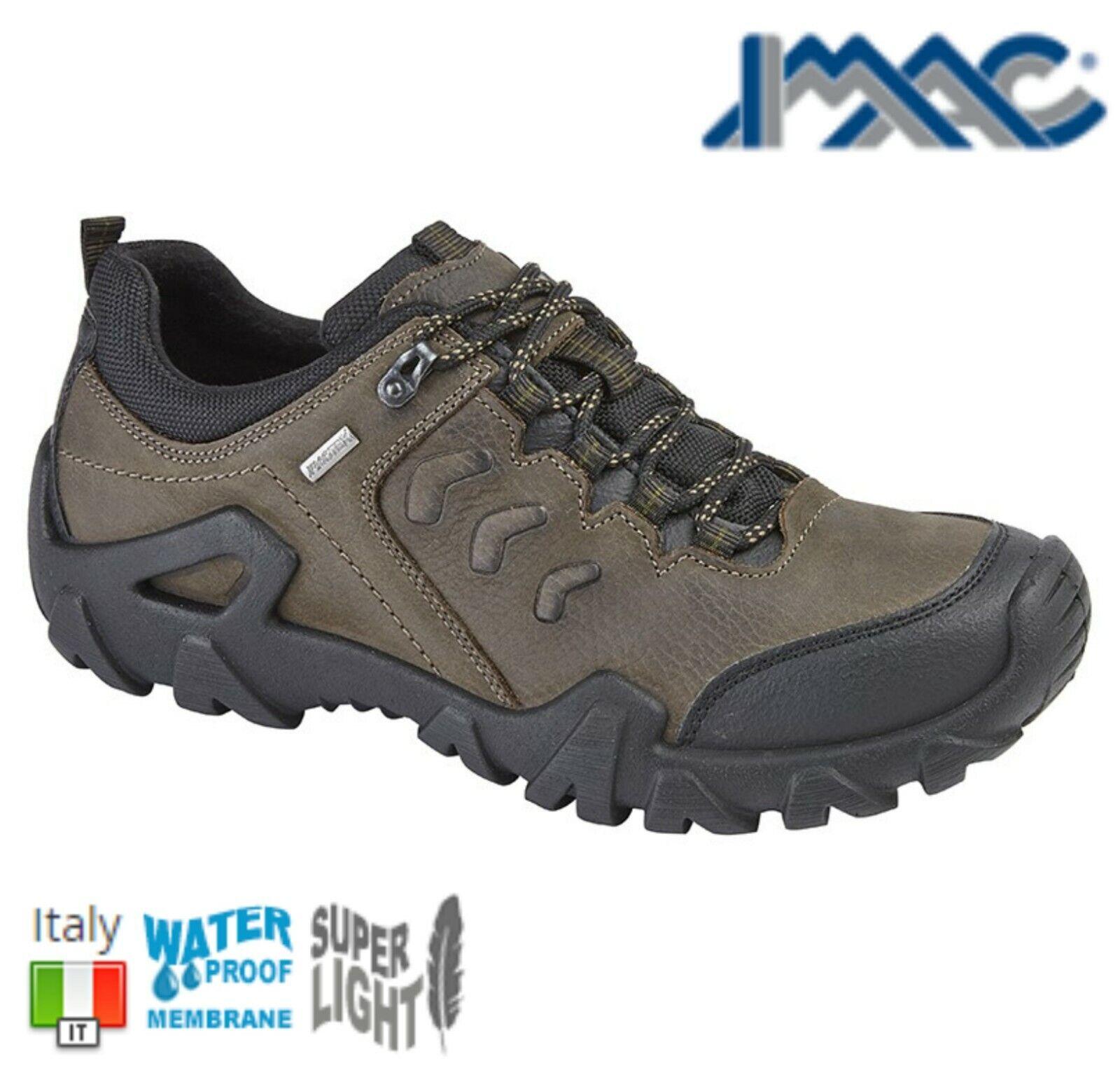 Imac Para Hombre De Cuero Marrón  Impermeable Caminar Trail Zapatos-Tallas 6 7 8 9 10 11 12  grandes ofertas