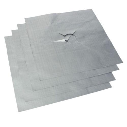 2//4X Reusable Protector Gas Range Liner Non Stick Gas Hob Stove Top Cooker Cover