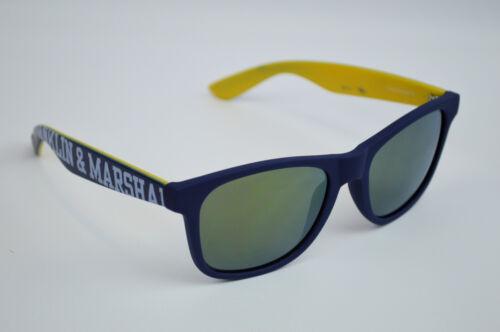 Franklin /& Marshall unisexe Hommes Lunettes de soleil femme bleu marine//jaune