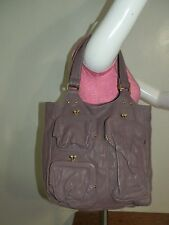 Bica Cheia Anthropologie Purple Leather Kiss lock Shoulder Bag Tote Purse