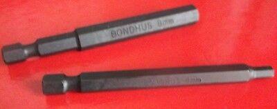 Bondhus Metric Hex Power Bit Allen Key Lifetime Warranty Screwdriver Bits
