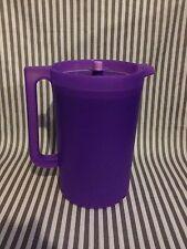 Tupperware Classic One Gallon Round Pitcher Purple New