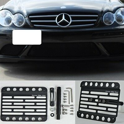 For 09-12 Benz R230 SL-Class NO PDC Front Bumper Tow Hook License Plate Bracket
