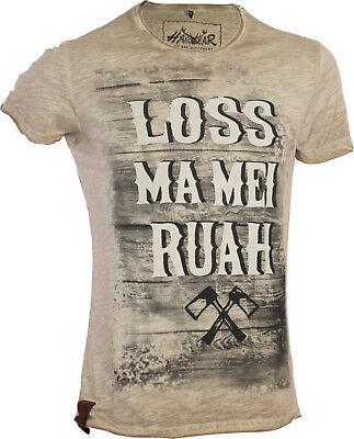 "Neueste Kollektion Von Trachten T-shirt Mit Druck ""loss Ma Mei Ruah"" Bayern Oktoberfest"