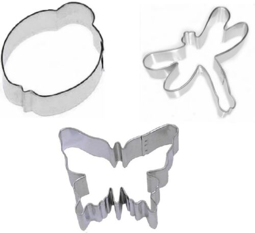 3 Piece Butterfly Ladybug Dragonfly Cookie Cutter Set Wedding Tea Party
