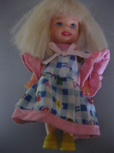 Kinder-Puppe-MATTEL-inc-1994-CHINA-langes-Haar-Hoehe-ca-12-cm