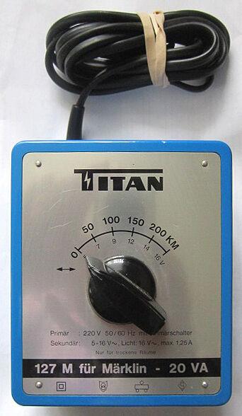 TITAN TRAFO 127 M Transformator für Märklin Modellbahnen Transformer Fahrregler1