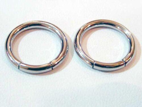 1//2 INCH SMOOTH SEGMENT CBR RINGS BODY JEWELRY RING NIPPLE PAIR OF 12G 2MM