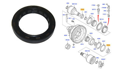 Differential //Driveshaft Oil Seal CORTECO 12019597B