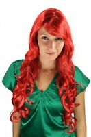 Wig Red Curls Long Side Part Bright Red Fiery Red 9204s-137 70cm Wig