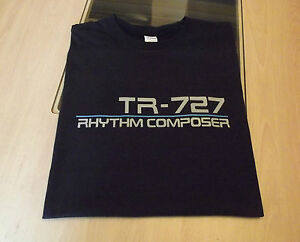 RETRO-SYNTH-DRUM-MACHINE-T-SHIRT-ROLAND-TR-727-DESIGN-S-M-L-XL-XXL