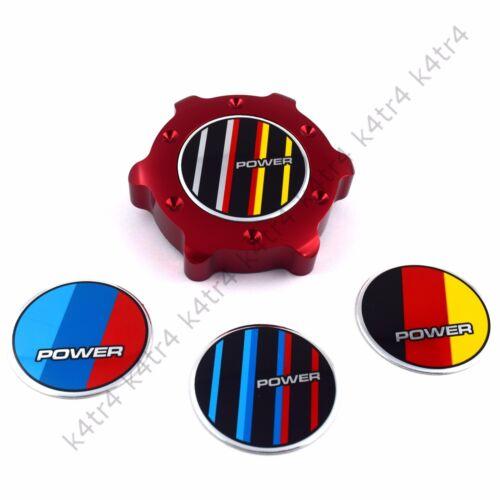 RED ALUMINUM ANODIZED OIL FILLER CAP FITS BMW 3 4 5 6 7 M X5 POWER GERMAN FLAG