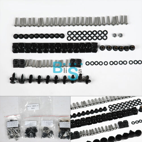 Fairing Bolt Kit Fasteners Nuts Screw fit Yamaha YZF-R1 YZFR1 1998-2001 O2 BSE