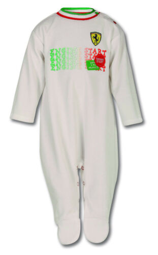 White Ferrari Infant Shield Pajama