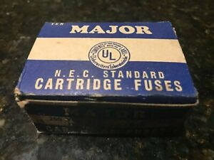 Details about Major Gem Electric Co NYC-NEC Standard Fuses-10 in Box-USA-No  406-NO EJ-1 Rare