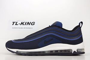 timeless design 21748 d516c Image is loading Nike-Air-Max-97-Ultra-Gym-Blue-Obsidian-