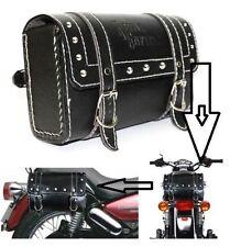 Stylish Square Saddle Bag Back Carrier/Tool Bag For Royal Enfield - Black