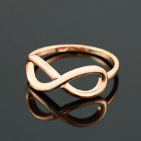 10k Rose Gold Infinity Ring In High Polish 1.35mm (made In Usa)