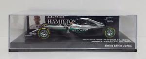 Minichamps 1/43 Lewis Hamilton Vainqueur du F1 Amg W07 Mercedes Abu Dhabi GP 2017