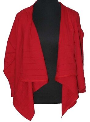 Boris Industries Lagenlook Giacca Cuciture Tg. 48 50 (ce) Rosso Giacca Di Avvolgimento-