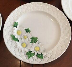Vintage-Daisy-Basket-by-Shafford-salad-plates-Set-Of-7